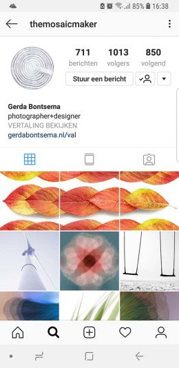 Styling op Instagram, Gerda Bontsema The Mosaic Maker