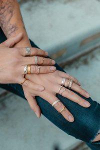 Presentatie ringen uit de nieuwe collectie, foto © Antoinet Murier
