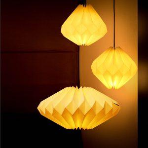Ondernemen als origamist, een unieke lampenmaker