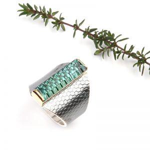 Ring SMALL WONDER Zilveren ring met groene tourmalijn