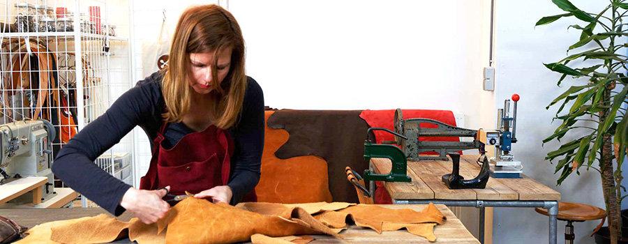 Interview over Ambacht en Ondernemen met Katia Plewnia, tassenmaakster